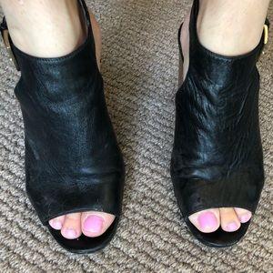 Kate spade leather chunky heels